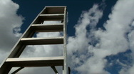 Stock Video Footage of Ladder To Success Time Lapse