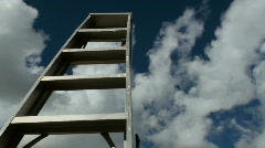 Ladder To The Clouds Time Lapse Stock Footage