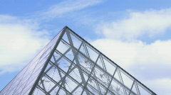 Louvre Museum pyramide timelapse 2 Stock Footage