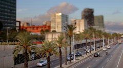 Ronda littoral barcelona spain road transport city urban Stock Footage