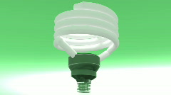 T207 lightbulb light bulb green environmentally friendly Stock Footage