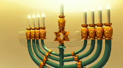 T207 chanukah Hanukkah candle jewish holiday Stock Footage
