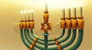 T207 chanukah Hanukkah candle jewish holiday Stock Footage