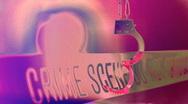 Stock Video Footage of t207 Crime Scene Handcuff light tape