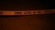Stock Video Footage of t207 Crime scene tape do not cross