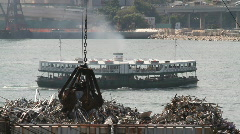 Scrap metal recycling Stock Footage