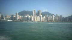 Traveling from Hong Kong to Macau on a ferry boat Stock Footage