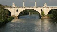 Rome bridge, Corso Francia Stock Footage