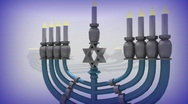 Stock Video Footage of t207 chanukah Hanukkah jewish holiday jew candle