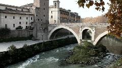 Ponte Fabricio Stock Footage
