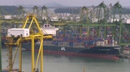 Stock Video Footage of container ship singapore 001