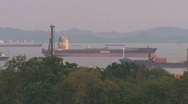 Stock Video Footage of oil tanker singapore part 01