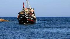 Pleasure boats, Tunisia, Sousse Stock Footage