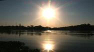 Sunset Reflection 1 Stock Footage