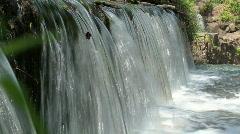 Lassiter Mill Dam Waterflow CLOSE Stock Footage