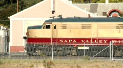 Napa Valley Wine Train Stock Footage