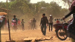 Cambodian street - stock footage