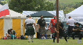 man struggles with caber Footage