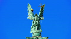 Heroes Square Statue Budapest Hungary Stock Footage