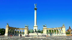 Heroes Square Budapest Hungary Stock Footage