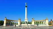 Stock Video Footage of Heroes Square Budapest Hungary