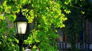 Old Street Lamp Stock Footage