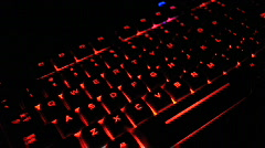Sillhouette Tech Computer Keyboard Typing Stock Footage