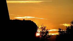 Beautiful Sunset Sky Timelapse Stock Footage