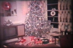 Christmas (1964 Vintage 8mm film) - stock footage