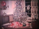 Stock Video Footage of Christmas (1964 Vintage 8mm film)