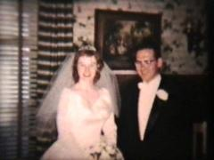 Bride And Groom On Wedding Day (1960 Vintage 8mm) - stock footage