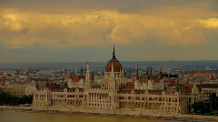 Parliament Of Hungary Budapest 01 Stock Footage