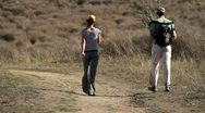 Stock Video Footage of Couple Hiking