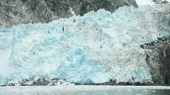 Glacier ice Northwest from boat P HD 8332 Stock Footage