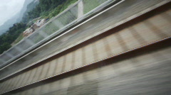 Moving Railway Track Stock Footage
