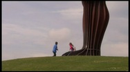 Angel of the North tilt up Stock Footage