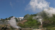 Valley of Geysers Stock Footage