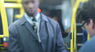 Bus interior Stock Footage