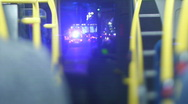 Stock Video Footage of London Bus interior