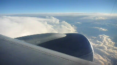 Flying Airplane Jet Engine Stock Footage
