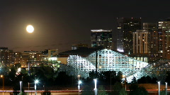 Harvest Moon over Denver Time lapse - stock footage