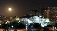 Harvest Moon over Denver Time lapse Stock Footage