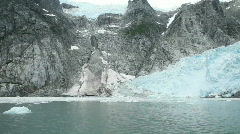 Glacier Norwest pan across ice flow P HD 8352 Stock Footage
