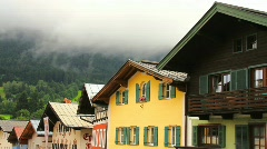 Houses In The Alps-Tirol Stock Footage
