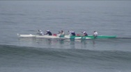 Outrigger canoes Stock Footage