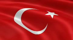 Stock Video Footage of TurkeyFlag