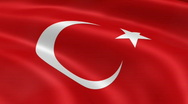 Stock Video Footage of TurkeyFlag