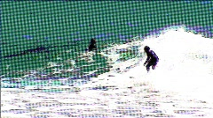 Surfer at Rincon Stock Footage
