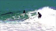 Stock Video Footage of Surfer at Rincon