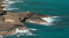 Hawaii Blow Hole (not blowing) Long Shot - No Sound Stock Footage